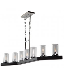 Artcraft   AC10847DC  Canyon Creek 7 Light Linear Pendant