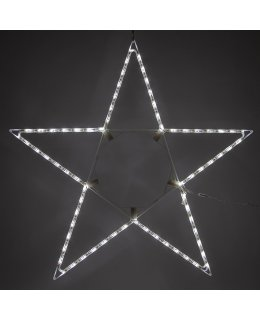 48 Inch LED Folding Star Decoration Cool White