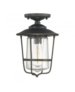 Capital Lighting  9607OB  Creekside Seeded Glass Outdoor Ceiling Fixture