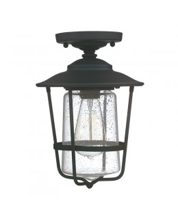 Capital Lighting  9607BK Creekside Seeded Glass Outdoor Ceiling Fixture