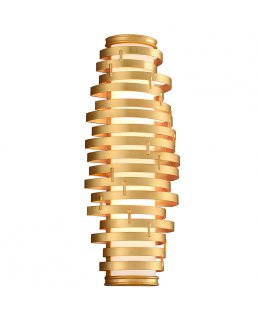Corbett 225-12  Vertigo 24 Inch Gold Leaf LED Wall Light