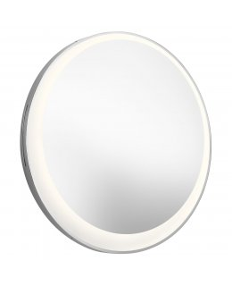 Elan ELA-84077 30 Inch Round Offset Edge Lit Lighted Mirror