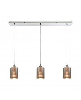 Elk  10565-3LP Plated Rings Linear Pendant 3 Light