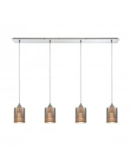 Elk  10565-4LP Plated Rings Linear Pendant 4 Light