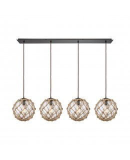 Elk 10715-4LP  Coastal Inlet Linear Pendant 4 Light