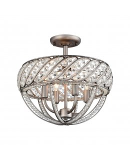 Elk  11091-4  Bradington Semi Flush Mount Ceiling Fixture