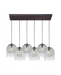 Elk  15303-6RC Yardley 1530 Crystals Linear Pendant 6 Light