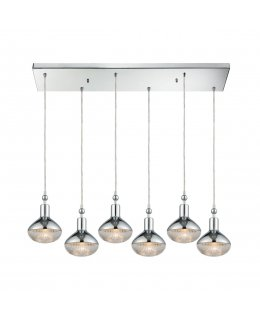 Elk  56623-6RC  Ravette Linear Pendant 6 Light