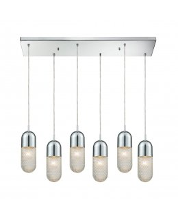 Elk 56661-6RC  Capsula Linear Pendant 6 Light