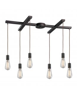 Elk 60046-6 Menlow Park 6 Light Linear Pendant