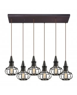 Elk  14191-6RC  Yardley Vintage Linear Pendant 6 Light