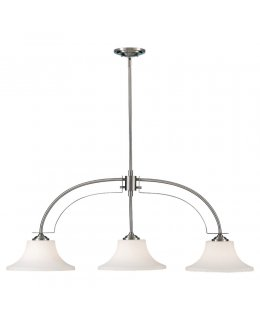 Feiss  F2248-3BS  Barrington 3 Light Island Linear Pendant