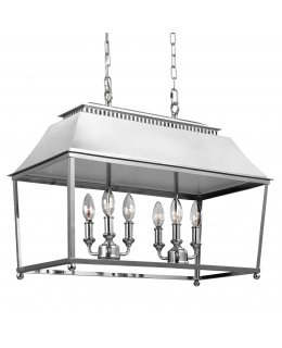 Feiss  F3105-6PN  Galloway Linear Pendant