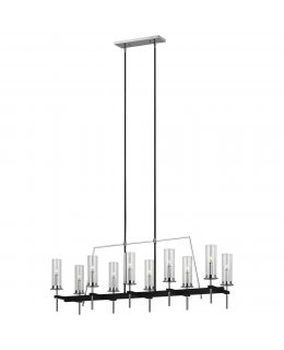Feiss  F3227-10TXB-CH  Broderick Linear Chandelier