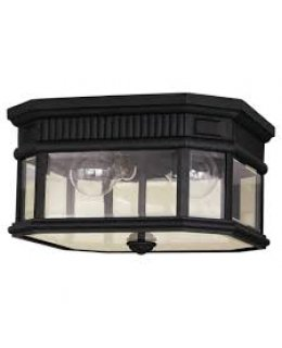 Feiss  OL5413BK  Cotswold Outdoor Flush Mount Ceiling