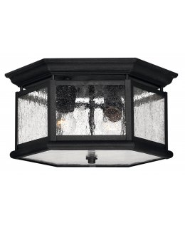 Hinkley 1683BK  Edgewater Outdoor Ceiling Light