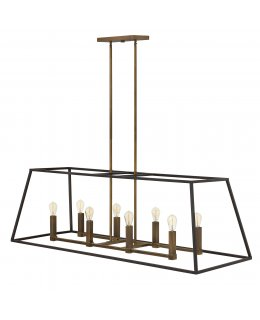 Hinkley  3338BZ  Fulton Double Linear Chandelier