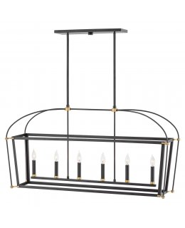 Hinkley  4054BK  Selby Linear Chandelier