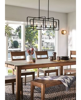 Hinkley  4815KZ Quentin Rectangular 36 INCH Linear Chandelier