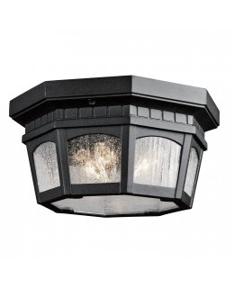 Kichler  9538BKT Courtyard Outdoor Ceiling Light