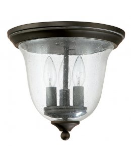 Capital Lighting  9677BK  Creekside Glass Outdoor Ceiling Fixture
