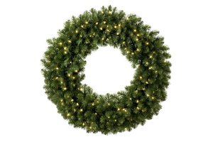 LED Prelit Christmas Wreaths