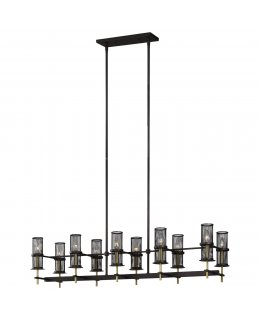 Feiss   F3233-10ORB-BBS  Palmyra Linear Chandelier