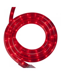 CLU14962 STEADY Incandescent RED Rope Light, 30 ft, 2 Wire, 120 Volt