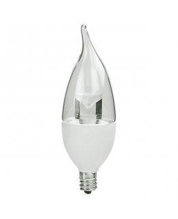 TCP5E12F1127K E12 Base 40W EQ Clear Flame Tip Chandelier Bulb