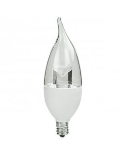 TCP4E12F1127K  E12 Base 25W EQ Clear Flame Tip Chandelier Bulb