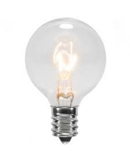CLP6061 E17-C9 Base G50 7W Incandescent Clear Patio Light Bulbs  PACK OF 25