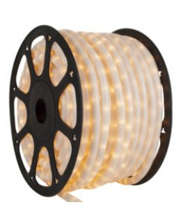 CLU17371 CHASING Incandescent Pearl White Rope Light, 150 ft, 3 Wire, 120 Volt