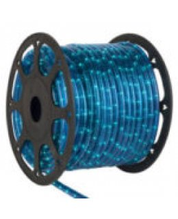 CLU14974  CHASING Incandescent BLUE Rope Light, 150 ft, 3 Wire, 120 Volt