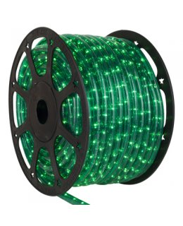 CLU14973 CHASING Incandescent GREEN Rope Light, 150 ft, 3 Wire, 120 Volt