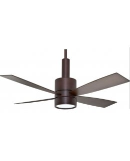 Casablanca Bullet Series Model 59069 54 Inch brushed Cocoa-Walnut Blades Ceiling Fan DRY LOCATION