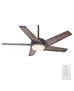 Casablanca Stealth 5 Blade Series Model59093 54 Inch Aged Bronze-Washed Gray Blades Ceiling Fan DRY LOCATION