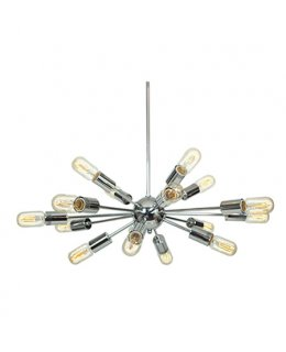 Access Lighting 55543-CH Flux Vintage 22 Inch Chandelier