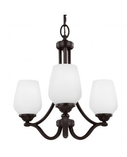 Feiss F2963-3HTBZ Vinter 3 Light Uplight Chandelier
