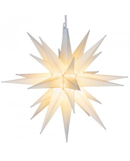 CLP13630 14 Inch White LED Moravian Star Warm White Bulb with 12 plastic spires