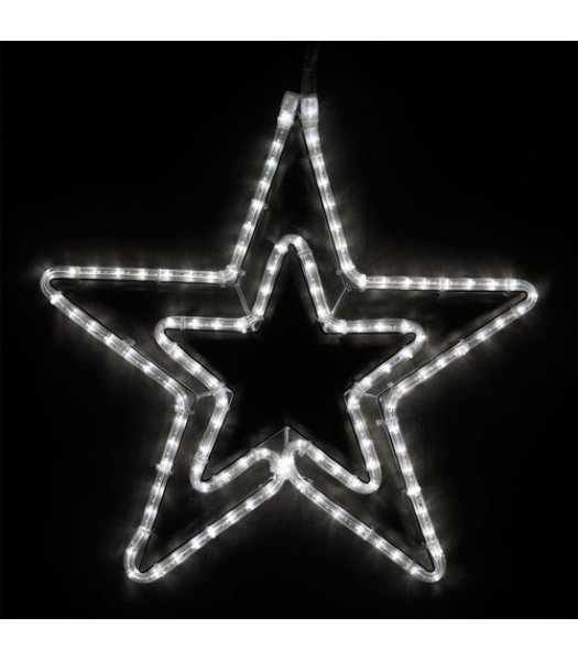 CLP13852 22 Inch Cool White LED Star Christmas Display