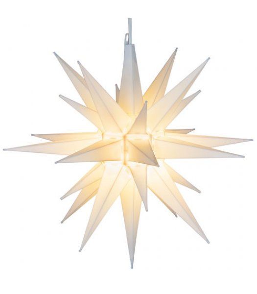CLP13634 14 Inch Clear Frosted LED Moravian Star Warm White Bulb with 12 plastic spires