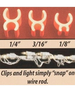 CLP5276  Christmas light 3-16 Inch Mini Light Sculpture Light Clips Package of 100