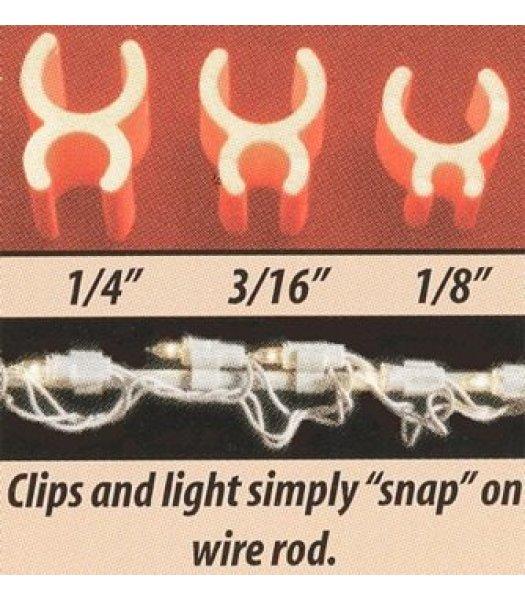 CLP5276  Christmas light 3-16 Inch Mini Light Sculpture Light Clips Package of 100
