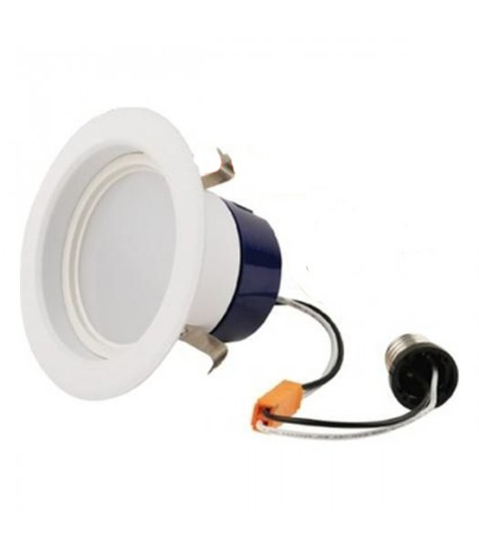 "GEL-LED4RL-56L30K  80CRI ( PACK OF 10 ) 4"" Downlight DIM Retrofit 9W LED 50W EQ 3000K Cool White 560 Lumens"