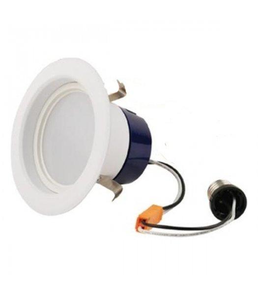 "GEL-LED4RL-65L830  80CRI ( PACK OF 10 ) 4"" Downlight DIM Retrofit 9W LED 60W EQ 3000K Cool White 650 Lumens"
