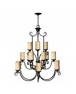 Hinkley Lighting Model  4019OL Casa Chandelier Olde Black Finish