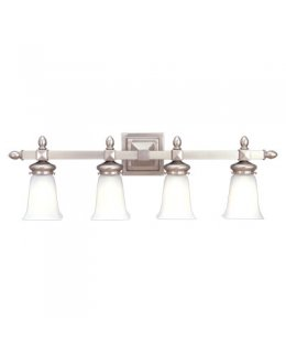Hudson Valley Lighting Model 2824-SN Cumberland Bath Light Fixture Satin Nickel-Frosted Finish