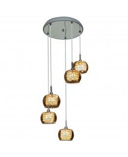 Access Lighting 52118LEDD-CH-IR  14 Inch Glam LED Multi-Light Pendant