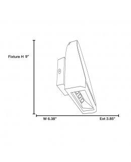 Access Lighting Model 20786LED-BL Slant Outdoor Wall Sconce Light Fixture Black Finish