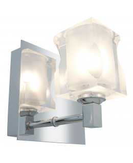Access 23916-CH-FCL Glase Square Crystal Vanity 1 Light